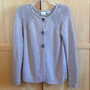 Newport News 3 Button Gray Knitted Cardigan SZ-M